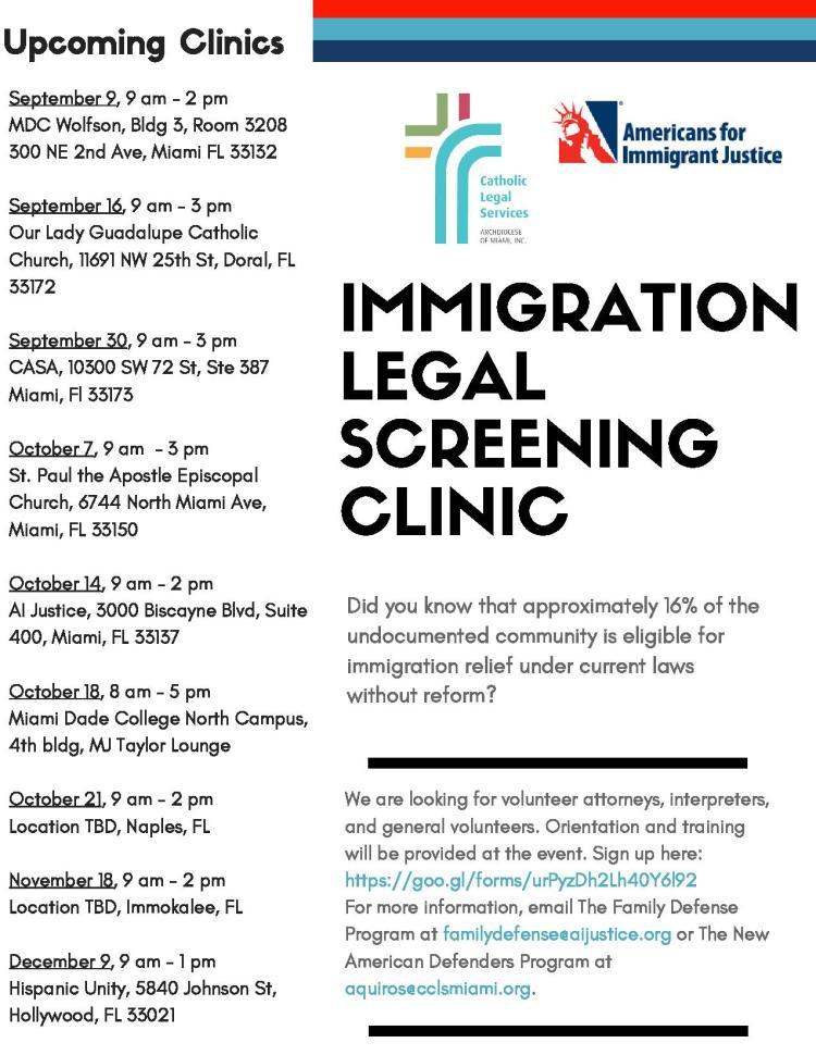 Clinics Flyer (for volunteers)