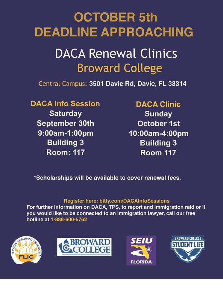 October 1 DACA Broward