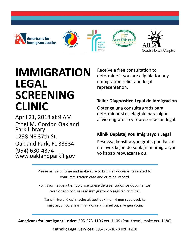 Clinic Flyer (Oakland April 21)